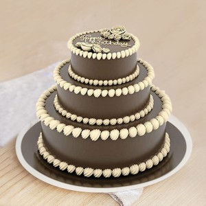 3 Tier Yummy Chocolate Truffle Cake