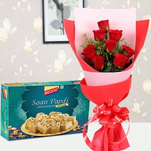 Red Rose with Sweet Combo