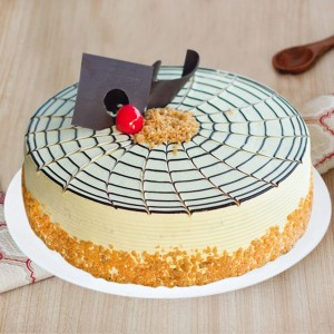 Delicious Butterscotch Birthday Cake