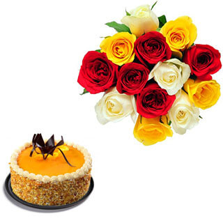 Blooming Butterscotch Cake