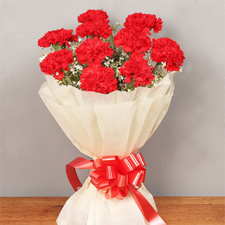 Beautiful Red Carnation Bouquet