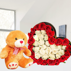 Roses & Teddy Combo