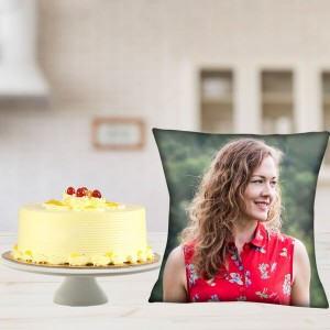 Personalized Cushion With Butterscotch Combo