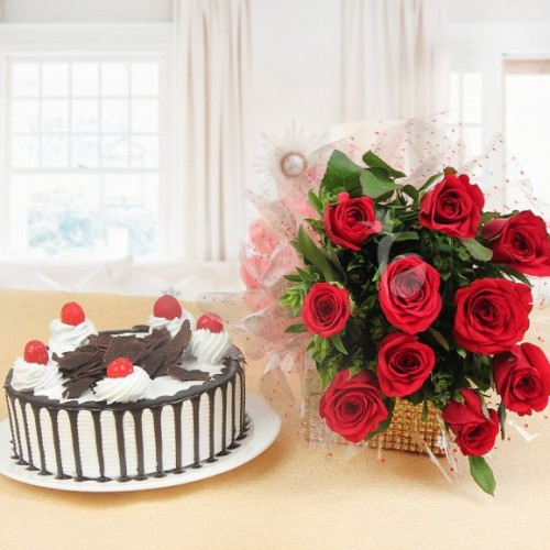 Black Forest Cake And Roses