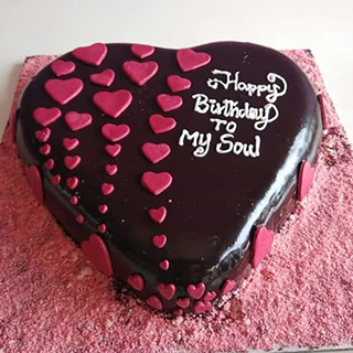 Chocolate Red Heart Cake