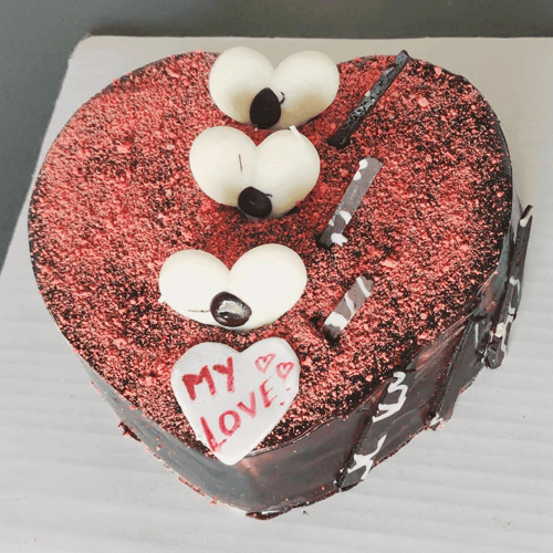 Dark chocolate Heart shaped cake