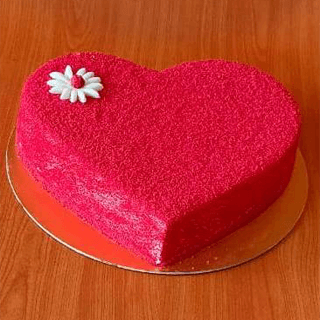 Red Velvet Heart Shaped